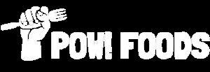 POW! Foods Logo Horizontal Blanco