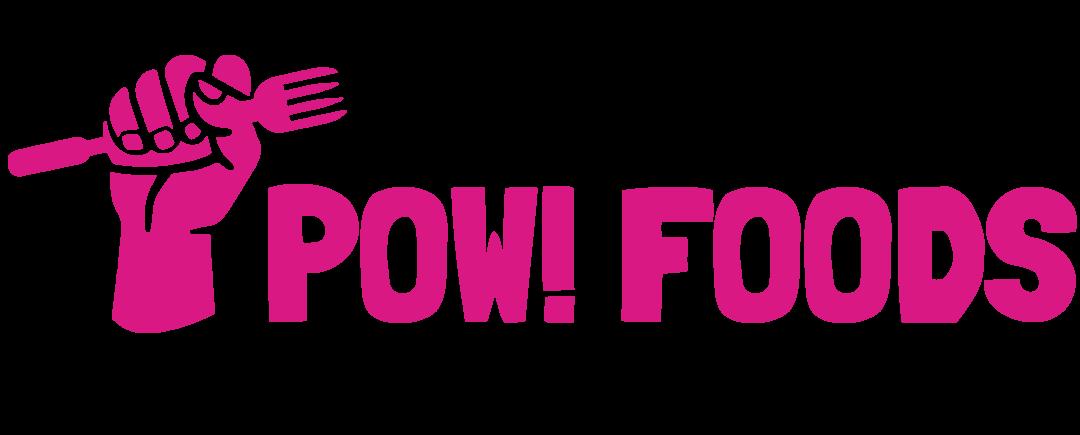 POW! Foods Logo Horizontal Fucsia